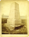 "Western Expansion:Cowboy, Imperial Size Photograph: ""Custer's Monument on Crow Agency"" by H.R. Locke, 1894...."