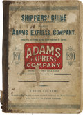 Miscellaneous:Booklets, Adams Express Company Shippers Guide, 1890....