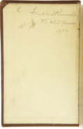 Autographs:U.S. Presidents, FDR: Signed (as President) Copy of Thomas Day, The History of Sanford and Merton...