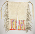 American Indian Art:Beadwork and Quillwork, A PAIR OF NORTHERN PLAINS MEN'S QUILLED HIDE LEGGINGS. c. 1890...(Total: 2 Item)