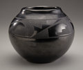 American Indian Art:Pottery, A SAN ILDEFONSO BLACKWARE JAR. Maria and Santana Martinez. c.1950...