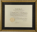 Autographs:U.S. Presidents, Franklin D. Roosevelt: Signed Presidential Appointment....