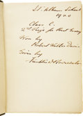 Autographs:U.S. Presidents, Franklin D. Roosevelt: Signed Copy of Ernest Thompson Seton: TwoLittle Savages: Being the Adventures of Two Boys Who Li...