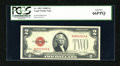 Small Size:Legal Tender Notes, Fr. 1507 $2 1928F Legal Tender Note. PCGS Gem New 66PPQ.. ...