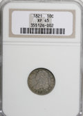 Bust Dimes: , 1821 10C Large Date XF45 NGC. NGC Census: (14/156). PCGS Population(12/122). Mintage: 1,186,512. Numismedia Wsl. Price for...