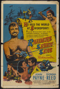 "Movie Posters:Adventure, Raiders of the Seven Seas (United Artists, 1953). One Sheet (27"" X41""). Adventure...."