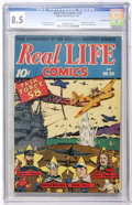 Golden Age (1938-1955):Non-Fiction, Real Life Comics #24 Pennsylvania pedigree (Nedor Publications,1945) CGC VF+ 8.5 Off-white to white pages....