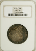 Bust Half Dollars, 1828 50C Square Base 2, Large 8 AU58 NGC. O-108, R.3. Mintage:3,075,200. Numismedia Wsl. Price for NGC/PCGS coin in AU58: ...