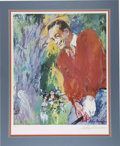 "Golf Collectibles:Autographs, Leroy Neiman Signed Bob Hope Lithograph. This visually impressive23x28"" lithograph of Bob Hope was created by one of the f..."