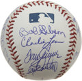 Autographs:Baseballs, No-Hit Club Baseball Signed by 23. Twenty-three hurlers who possessed stuff that many considered unhittable have checked in ...