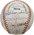 Autographs:Baseballs, 1998 Hall of Fame Induction Ceremonies Multi Signed Baseball. TheONL (Coleman) baseball is signed by eighteen Hall of Fame...