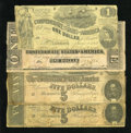 Confederate Notes:1862 Issues, Four CSA Notes.. ...