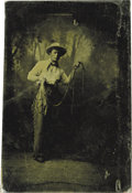 """Western Expansion:Cowboy, Very Early """"Cowboy"""" Sixth-Plate Tintype, ca. 1860s-1870s. ..."""