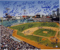 "Autographs:Photos, Boston Red Sox Multi-Signed Oversized Photo. Beautiful 16x20""photograph of Fenway Park signed by many players from the Red..."