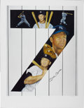 """Autographs:Letters, Mickey Mantle Signed """"Yankee 7"""" Lithograph. Fine work by noted sports artist Samantha Wendell offers several skillful portr..."""