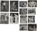 Baseball Collectibles:Photos, 1945-48 Baseball Stars Original Service Photographs Lot of 12, 1 Signed by Jeff Heath. Stellar collection of post WWII serv...