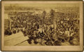Photography:Cabinet Photos, Extremely Rare Photograph of Guthrie, Oklahoma Territory Four Weeks after Oklahoma Land Rush ca 1889. . ...
