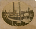Photography:Official Photos, Unusual Large Print of Union Steamboats....