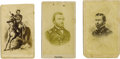 Photography:CDVs, Three Lithographed CDVs of General Ulysses S. Grant.... (Total: 3 Items)