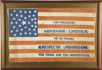 Lincoln & Johnson: Superb Large 1864 Campaign Flag