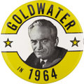 "Political:Pinback Buttons (1896-present), Barry Goldwater: Another Very Unusual and Rare 3½"" Design...."
