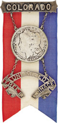 Political:Ribbons & Badges, William Jennings Bryan: Spectacular Massive Silver Badge, Probably from the 1896 Democratic National Convention....
