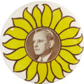"Political:Pinback Buttons (1896-present), Alfred M. Landon: Bold Portrait Design in the Rare 3½"" Size...."
