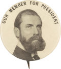 """Political:Pinback Buttons (1896-present), Charles Evans Hughes: Most Unusual 1¼"""" Variety...."""