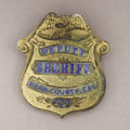 Western Expansion:Cowboy, KERN COUNTY, CALIFORNIA GOLD-PLATED AND ENAMEL BADGE - ca. 1915-25.A great gold-plated Kern County, California Deputy Sheri... (Total:1 Item)