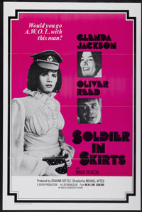 "Soldier in Skirts (New Line, 1972). One Sheet (27"" X 41""). Tri-Folded. Drama"