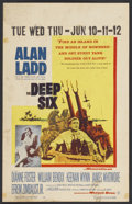 """Movie Posters:War, The Deep Six Lot (Warner Brothers, 1958). Window Cards (5) (14"""" X22""""). War.... (Total: 5 Items)"""