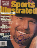 Autographs:Letters, Mark McGwire Single Signed Sports Illustrated. The March 23, 1998issue of Sports Illustrated speculated on the possibility...