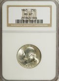 Washington Quarters: , 1945 25C MS67 NGC. NGC Census: (80/3). PCGS Population (15/1).Mintage: 74,372,000. Numismedia Wsl. Price for NGC/PCGS coin...
