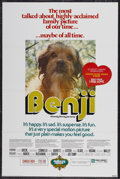 "Movie Posters:Adventure, Benji (Mulberry Square Releasing, R-1975). One Sheet (25.5"" X38.5""). Adventure...."