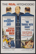 """Movie Posters:Hitchcock, The Man Who Knew Too Much/The Trouble With Harry Combo (Paramount, R-1963). One Sheet (27"""" X 41""""). Hitchcock...."""