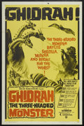 "Movie Posters:Science Fiction, Ghidrah, the Three-Headed Monster (Continental, 1964). One Sheet(27"" X 41""). Science Fiction...."