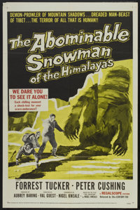 """The Abominable Snowman of the Himalayas (20th Century Fox, 1957). One Sheet (27"""" X 41""""). Horror"""