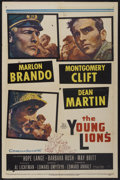 "Movie Posters:War, The Young Lions (20th Century Fox, 1958). One Sheet (27"" X 41"").War...."