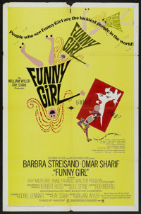 "Funny Girl (Columbia, 1968). One Sheet (27"" X 41""). Musical"