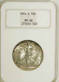 1944-D 50C MS66 NCS. NGC Census: (1155/175). PCGS Population (1452/157). Mintage: 9,769,000. Numismedia Wsl. Price for N...