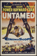 "Movie Posters:Adventure, Untamed (20th Century Fox, 1955). One Sheet (27"" X 41"").Adventure...."