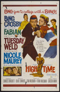 "Movie Posters:Comedy, High Time (20th Century Fox, 1960). One Sheet (27"" X 41""). Comedy...."