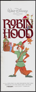 "Movie Posters:Animated, Robin Hood (Buena Vista, 1973). Insert (14"" X 36""). Animated...."