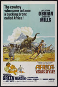 "Movie Posters:Adventure, Africa - Texas Style! (Paramount, 1967). One Sheet (27"" X 41"").Adventure...."
