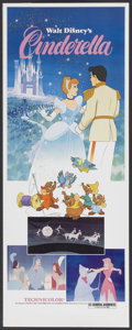 "Movie Posters:Animated, Cinderella (Buena Vista, R-1981). Insert (14"" X 36""). Animated...."