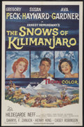 "Movie Posters:Adventure, The Snows of Kilimanjaro (20th Century Fox, 1952). One Sheet (27"" X41""). Adventure...."