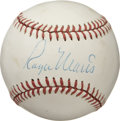 Autographs:Baseballs, 1970's Roger Maris Single Signed Baseball. The 1961 home run hero'searly passing in 1985 came shortly before the memorabil...