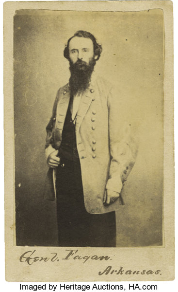 PhotographyCDVs Carte De Visite Of Confederate General James FlemingFagan