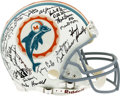 Football Collectibles:Helmets, 1972 Miami Dolphins Perfect Season Team Signed Helmet. The perfect season of the 1972 Miami Dolphins is the stuff that legen...