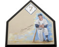 Autographs:Others, Mickey Mantle Signed Home Plate. Renowned sports artist GreggPacker has applied his talents and has turned the home plate i...